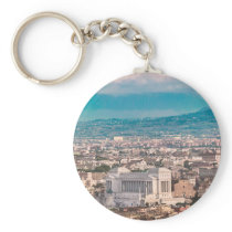 Rome Aerial View at Saint Peter Basilica Viewpoint Keychain