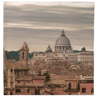 Rome Aerial View From Monte Pincio Sightseeing Cloth Napkin