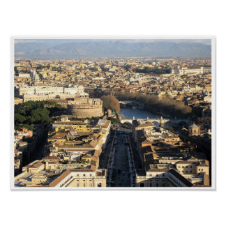 Rome- Aerial View Poster