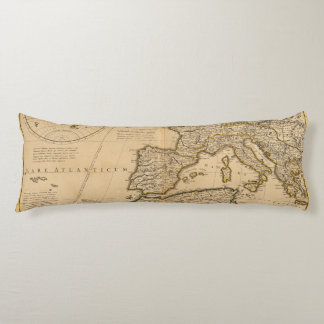 Rome and Eastern Hemisphere Body Pillow