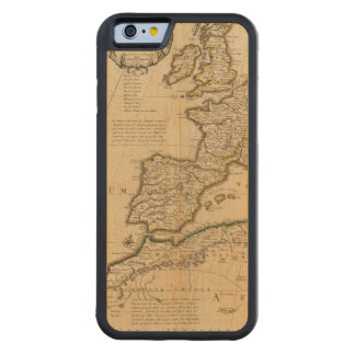 Rome and Eastern Hemisphere Carved Maple iPhone 6 Bumper Case