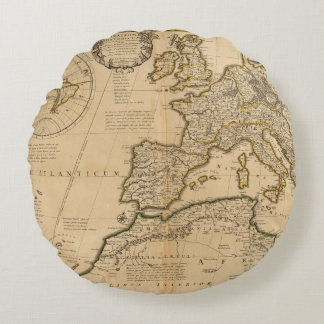 Rome and Eastern Hemisphere Round Pillow