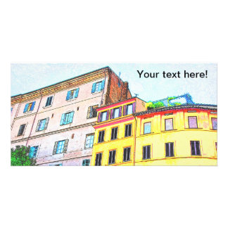 Rome architecture drawing personalized photo card