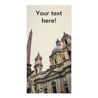 Rome architecture personalized photo card