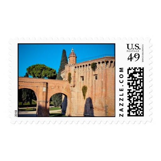 Rome architecture stamp