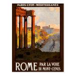 Rome at Dawn Par La Voie Travel Poster 1920 Postcard