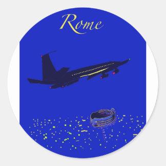 Rome at Night Classic Round Sticker
