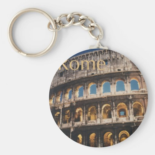 Rome at Night Key Chain