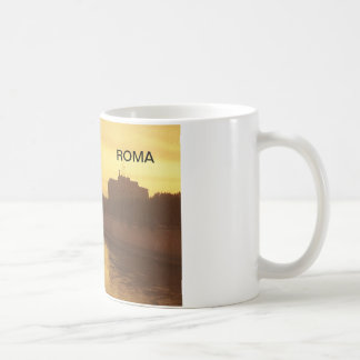 Rome at sunset, River Tiber and St Peter's Classic White Coffee Mug