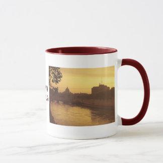 Rome at sunset, River Tiber and St Peter's Mug