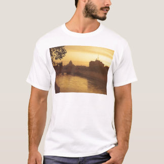 Rome at sunset, River Tiber and St Peter's T-Shirt