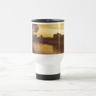 Rome at sunset, River Tiber and St Peter's Travel Mug