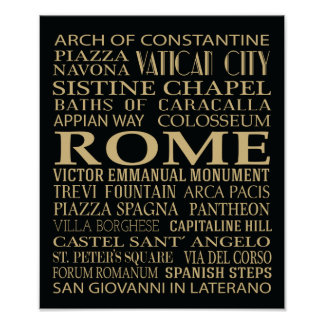 Rome Attractions Posters