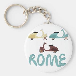 Rome Basic Round Button Keychain