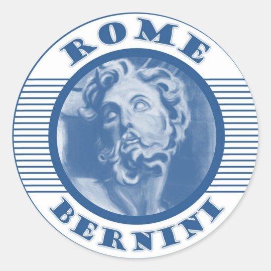 ROME BLUE CLASSIC ROUND STICKER
