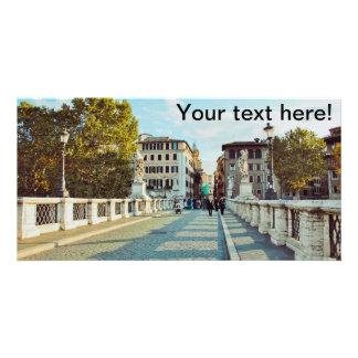 Rome bridge picture card