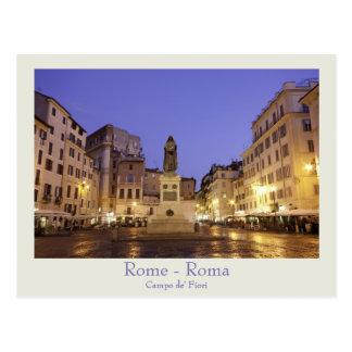 Rome - Campo de' Fiori postcard with text
