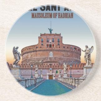 Rome - Castel Sant'Angelo Beverage Coasters