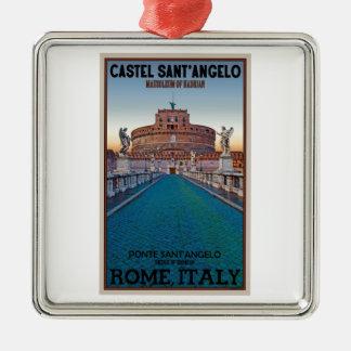 Rome - Castel Sant'Angelo Metal Ornament
