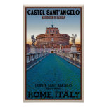 Rome - Castel Sant'Angelo Poster