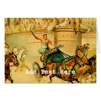 Rome Chariot Race Greeting Card