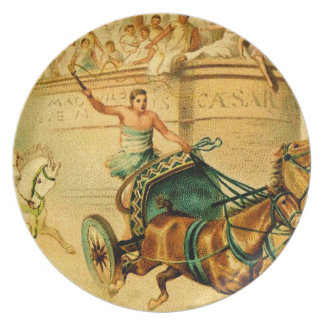 Rome Chariot Race Party Plates