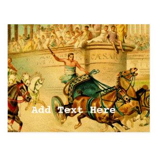 Rome Chariot Race Postcard