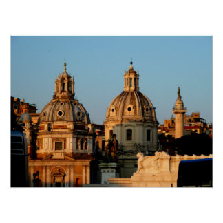 Rome Church Domes Poster