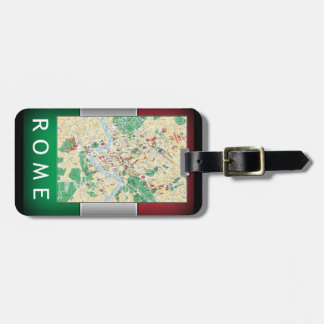 Rome City Map Tag For Luggage