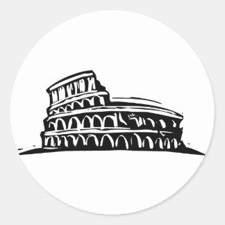 Rome Coliseum Classic Round Sticker