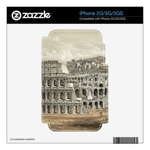 """""""Rome Coliseum"""" iPhone 2G/3G/3GS custom skin Decals For The iPhone 3GS"""