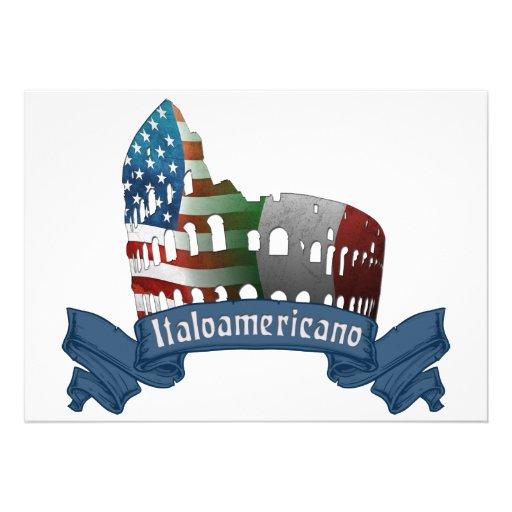 Rome Coliseum Italian American Invitations