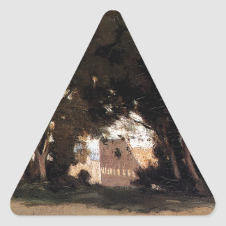 Rome, Coliseum, View from the Farnese Gardens Triangle Sticker