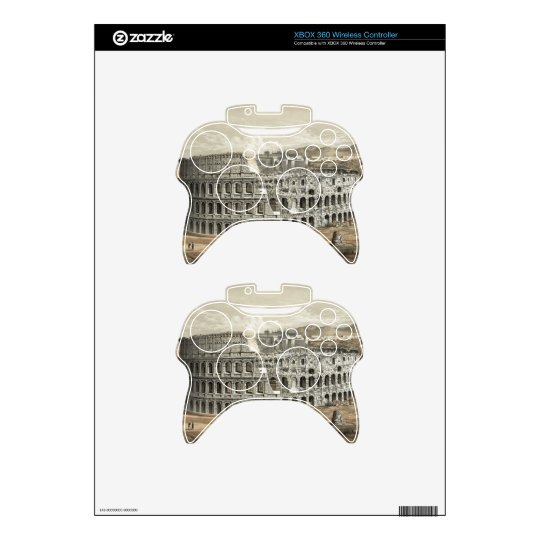 """Rome Coliseum"" XBOX 360 wireless controller skin Xbox 360 Controller Decal"