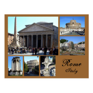 Rome Collage Postcard