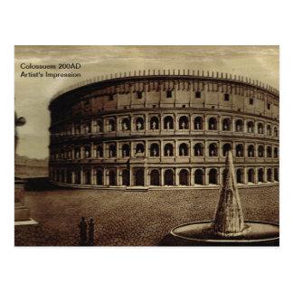 Rome,Colosseum 200AD Postcard