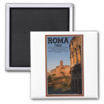 Rome - Colosseum and Temple of Venus 2 Inch Square Magnet