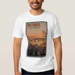 Rome - Colosseum and the Moon Tee Shirts