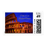 Rome Colosseum at Night Italian Dinner Stamp