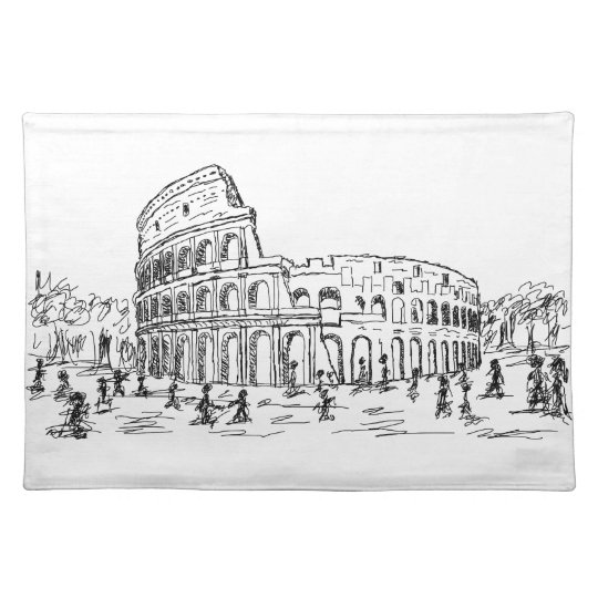 rome colosseum cloth placemat