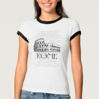 """Rome """"Colosseum"""" Digital Typography Collage T-Shirt"""