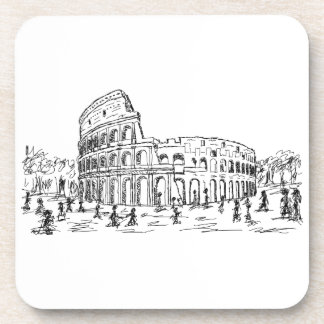 rome colosseum drink coaster