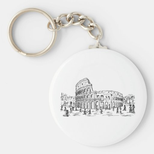 rome colosseum keychains