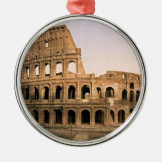 ROME COLOSSEUM ROUND METAL CHRISTMAS ORNAMENT