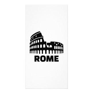 Rome colosseum customized photo card