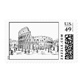 rome colosseum postage stamps