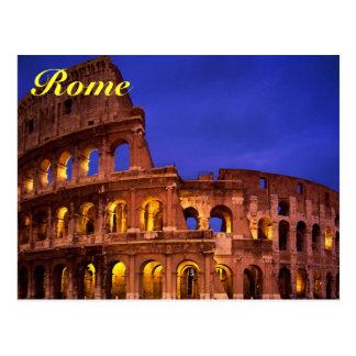 rome colosseum postcard