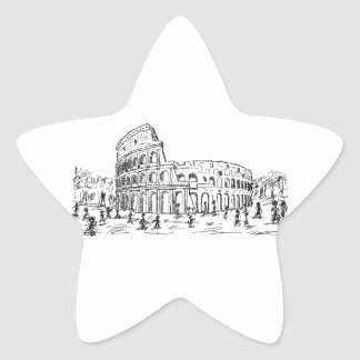 rome colosseum star sticker