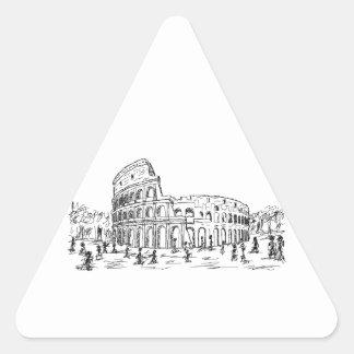 rome colosseum triangle sticker