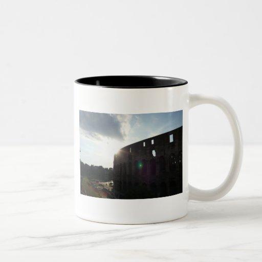 Rome Colosseum Two-Tone Coffee Mug